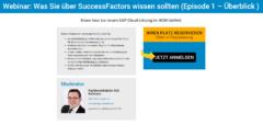 Webinar SuccessFactors Überblick