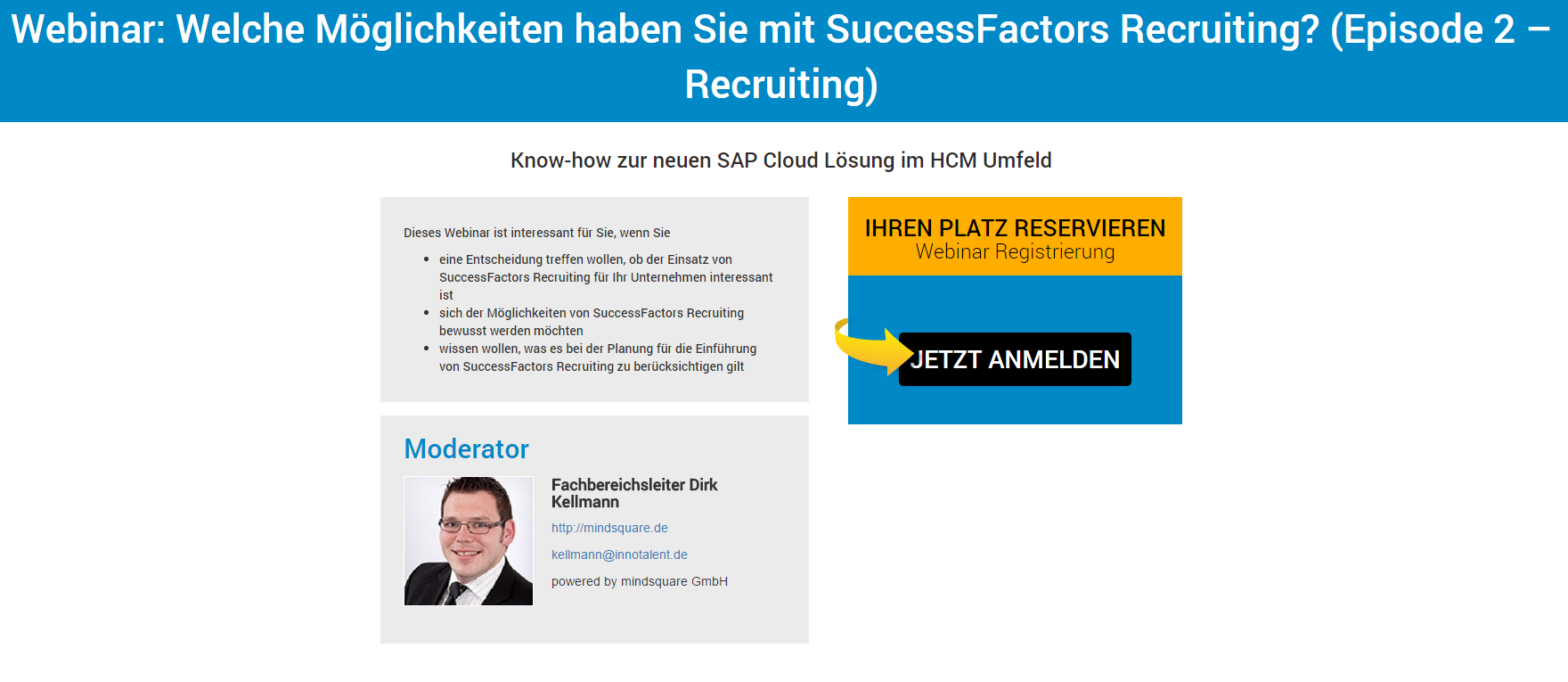 Webinar SuccessFactors Recruiting