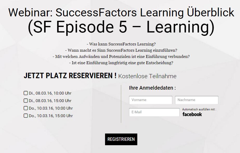 SuccessFactors Learning Webinar