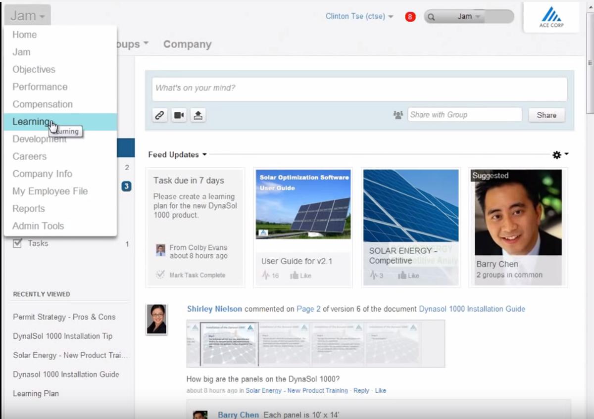 Verknüpfung von SAP Jam und SuccessFactors Learning