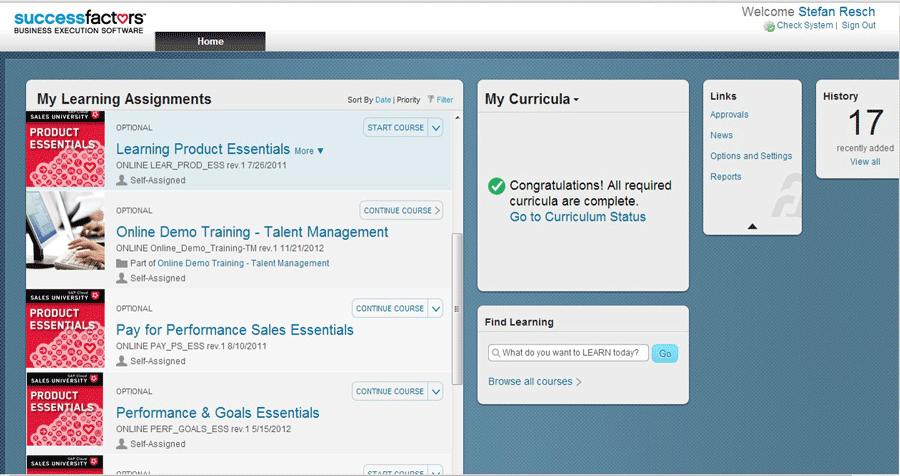 SuccessFactors E-Learning