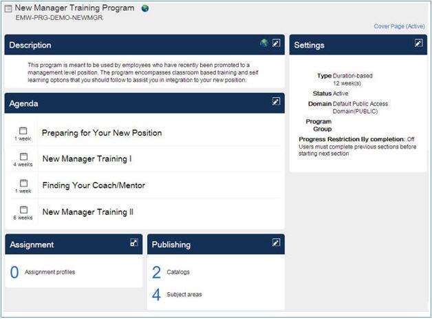 SuccessFactors Learning: Program mit Lernabschnitten