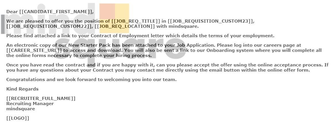 SF Recruiting persönliches Branding einer email