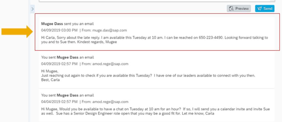 Email Correspondenz