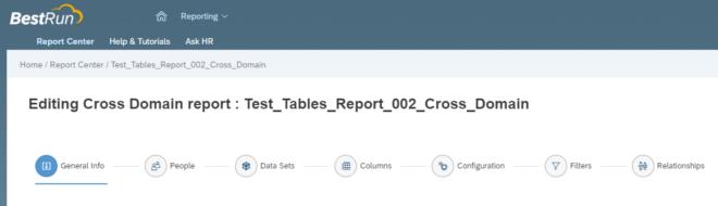 Report Builder in SuccessFactors für Tabellen-Berichte